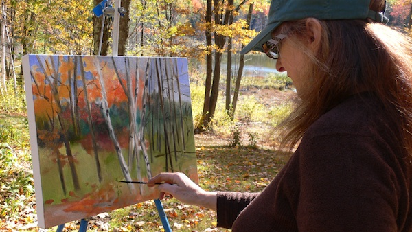 Painting at the bog